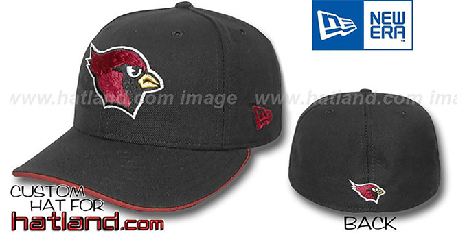 Cardinals 'TEAM FLIP'  Fitted Hat - black : pictured without stickers that these products are shipped with