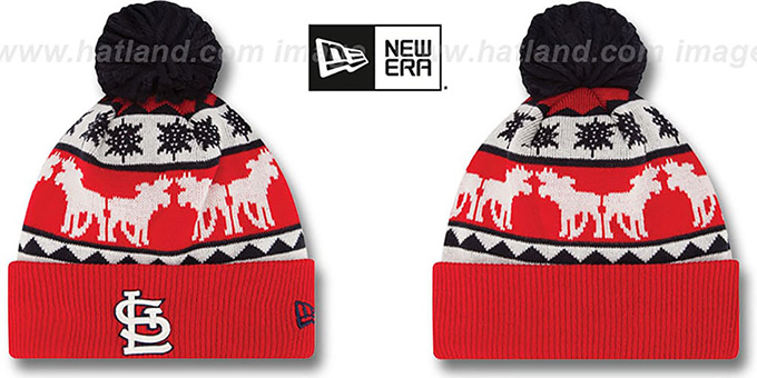 Cardinals 'THE-MOOSER' Knit Beanie Hat by New Era : pictured without stickers that these products are shipped with