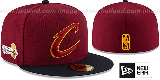 f5b3766e20da7 Cavaliers  2017 FINALS  Burgundy-Navy Fitted Hat by New Era