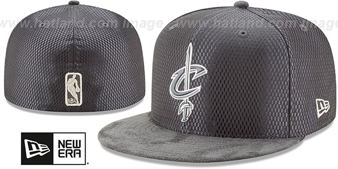 Cavaliers '2017 ONCOURT' Charcoal Fitted Hat by New Era