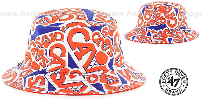 Cavaliers 'BRAVADO BUCKET' Royal Hat by Twins 47 Brand : pictured without stickers that these products are shipped with
