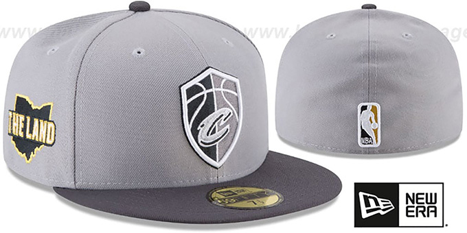 Cavaliers 'CITY-SERIES' Grey-Grey Fitted Hat by New Era : pictured without stickers that these products are shipped with