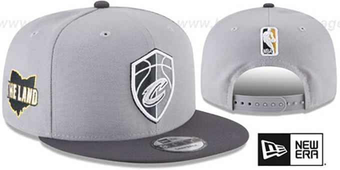 Cavaliers 'CITY-SERIES SNAPBACK' Grey-Grey Hat by New Era : pictured without stickers that these products are shipped with