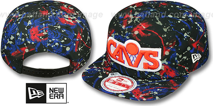 Cavaliers 'GLOWSPECK SNAPBACK' Hat by New Era : pictured without stickers that these products are shipped with