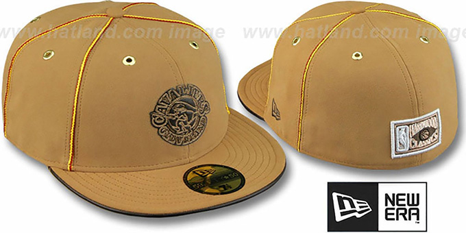 Cavaliers 'HARDWOOD DaBu' Fitted Hat by New Era : pictured without stickers that these products are shipped with