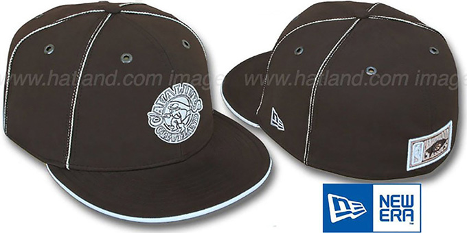 Cavaliers 'HW CHOCOLATE DaBu' Fitted Hat by New Era : pictured without stickers that these products are shipped with