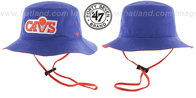 Cavaliers 'KIRBY BUCKET' Royal Hat by Twins 47 Brand : pictured without stickers that these products are shipped with