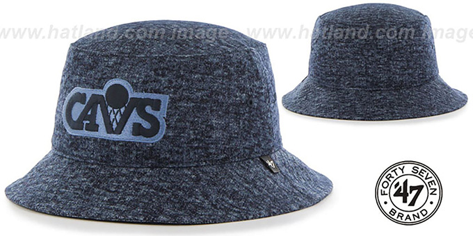 Cavaliers 'LEDGEBROOK BUCKET' Navy Hat by Twins 47 Brand : pictured without stickers that these products are shipped with