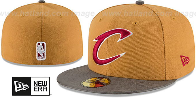Cavaliers 'RUSTIC-VIZE' Wheat-Grey Fitted Hat by New Era