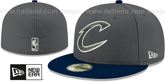 Cavaliers 'SHADER MELT-2' Grey-Navy Fitted Hat by New Era : pictured without stickers that these products are shipped with