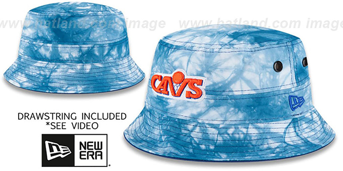 Cavaliers 'TYE-DYE ZONE' Bucket Hat by New Era : pictured without stickers that these products are shipped with