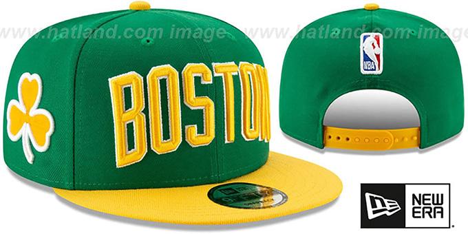 7206ce871d8f06 Celtics '18-19 CITY-SERIES SNAPBACK' Green-Gold Hat by New