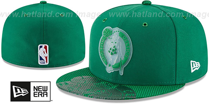 61f67ca4 Celtics '2018 NBA ONCOURT ALL-STAR' Green Fitted Hat by ...