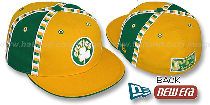 Celtics 'CHECKERED PAST' Fitted Hat by New Era : pictured without stickers that these products are shipped with