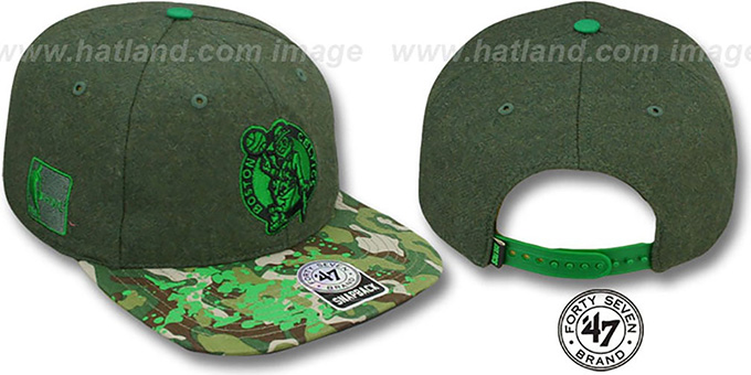 Celtics 'COLONEL POTTER' Adjustable Hat by Twins 47 Brand : pictured without stickers that these products are shipped with