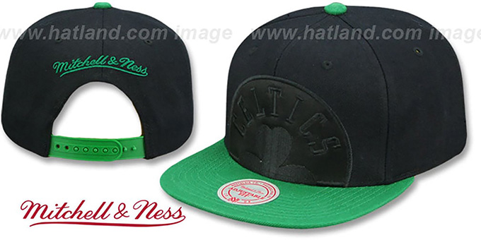 competitive price fd6c1 bdcb7 Celtics  CROPPED SATIN SNAPBACK  Black-Green Adjustable Hat by Mitchell and  Ness