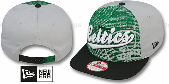Celtics 'ESPN BRICK A-FRAME SNAPBACK' Hat by New Era : pictured without stickers that these products are shipped with
