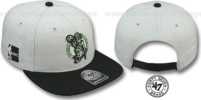 Celtics HWC 'SATCHEL SNAPBACK' Adjustable Hat by Twins 47 Brand : pictured without stickers that these products are shipped with