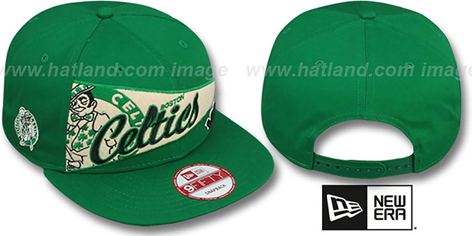 Celtics 'PENNANT SNAPBACK' Green Hat by New Era : pictured without stickers that these products are shipped with