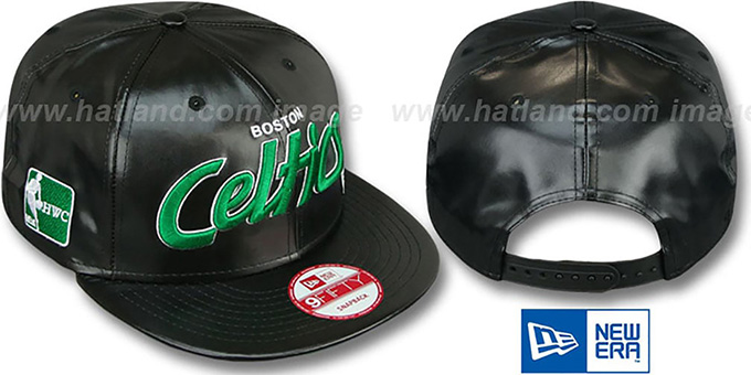 Celtics 'REDUX SNAPBACK' Black Hat by New Era : pictured without stickers that these products are shipped with