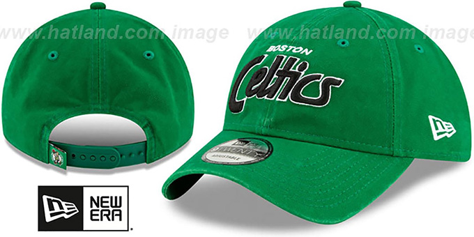 Celtics 'RETRO-SCRIPT SNAPBACK' Green Hat by New Era