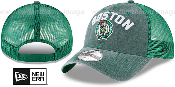 Celtics 'RUGGED-TEAM TRUCKER SNAPBACK' Green Hat by New Era : pictured without stickers that these products are shipped with