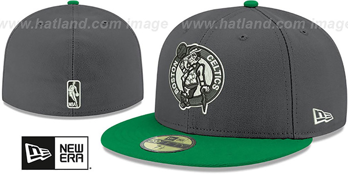 Celtics 'SHADER MELT-2' Grey-Green Fitted Hat by New Era : pictured without stickers that these products are shipped with