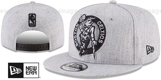 hot sale online 9b1d4 49523 Celtics  SILKED-XL SNAPBACK  Heather Light Grey Hat by New Era