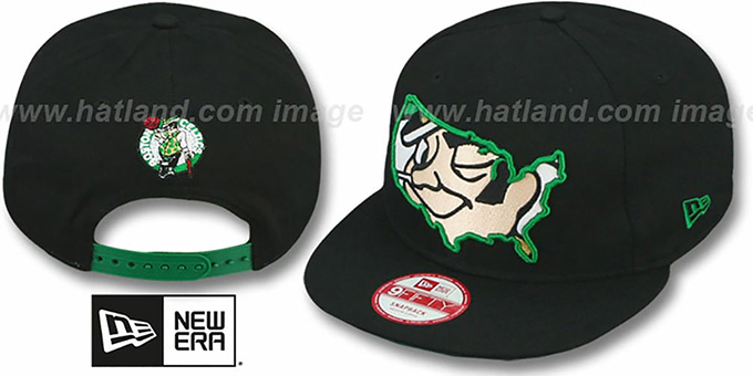 Celtics 'TEAM-INSIDER SNAPBACK' Black Hat by New Era : pictured without stickers that these products are shipped with