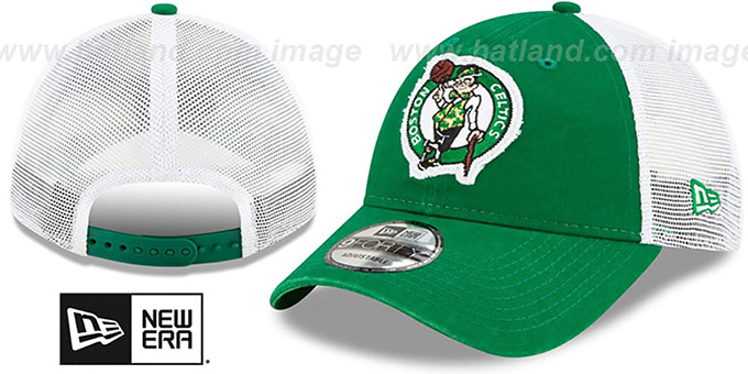 Celtics 'FRAYED LOGO TRUCKER SNAPBACK' Hat by New Era