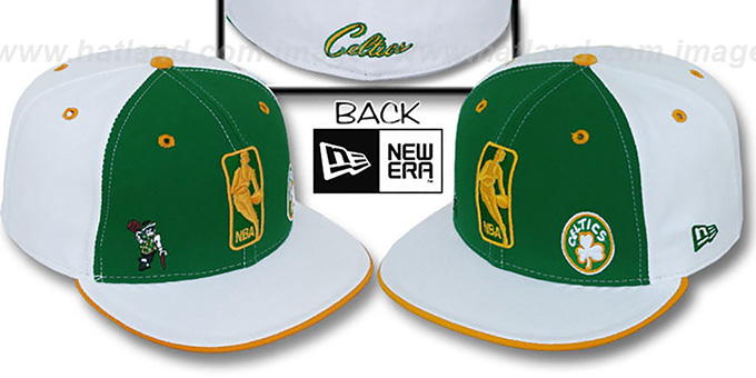 Celtics 'TRIPLE THREAT' Kelly-White-Gold Fitted Hat by New Era