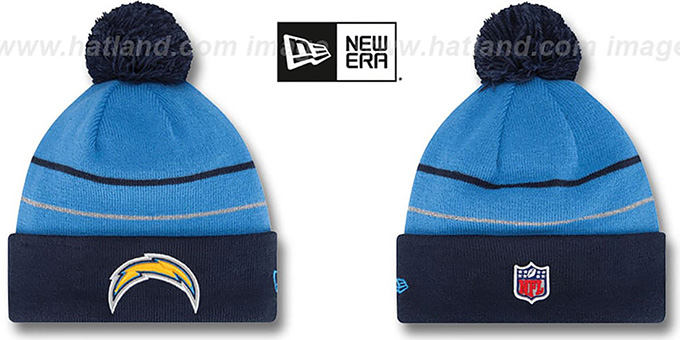 Chargers 'THANKSGIVING DAY' Knit Beanie Hat by New Era : pictured without stickers that these products are shipped with