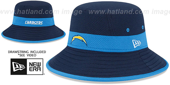 Chargers '2015 NFL TRAINING BUCKET' Navy Hat by New Era : pictured without stickers that these products are shipped with
