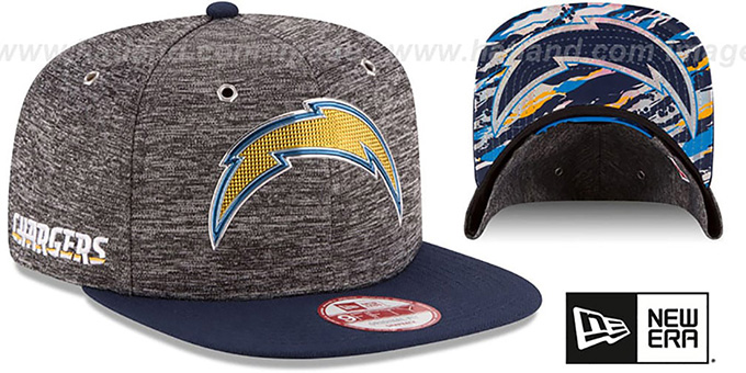 Chargers '2016 NFL DRAFT SNAPBACK' Hat by New Era : pictured without stickers that these products are shipped with