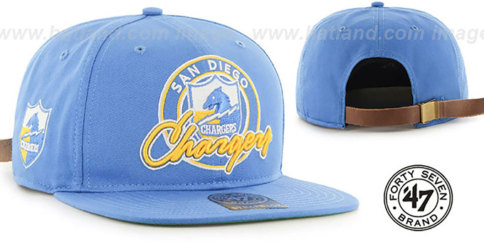 Chargers 'NFL VIRAPIN STRAPBACK' Sky Hat by Twins 47 Brand : pictured without stickers that these products are shipped with