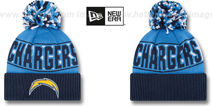 Chargers 'REP-UR-TEAM' Knit Beanie Hat by New Era : pictured without stickers that these products are shipped with