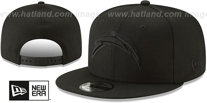 1da4a607 Los Angeles Chargers TEAM-BASIC BLACKOUT SNAPBACK Hat by New Era