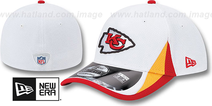 Chiefs '2013 NFL TRAINING FLEX' White Hat by New Era : pictured without stickers that these products are shipped with