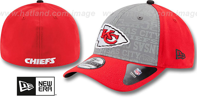Chiefs '2014 NFL DRAFT FLEX' Red Hat by New Era : pictured without stickers that these products are shipped with