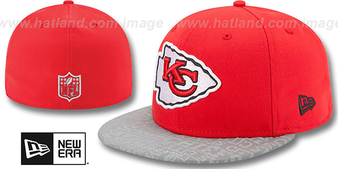 Chiefs '2014 NFL DRAFT' Red Fitted Hat by New Era : pictured without stickers that these products are shipped with