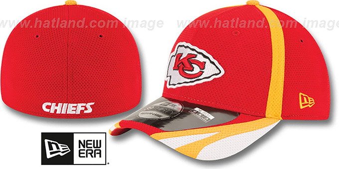 Chiefs '2014 NFL TRAINING FLEX' Red Hat by New Era : pictured without stickers that these products are shipped with