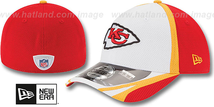 Chiefs '2014 NFL TRAINING FLEX' White Hat by New Era : pictured without stickers that these products are shipped with