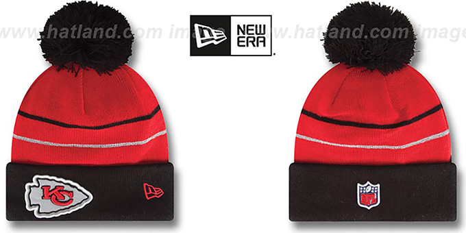 Chiefs 'THANKSGIVING DAY' Knit Beanie Hat by New Era : pictured without stickers that these products are shipped with