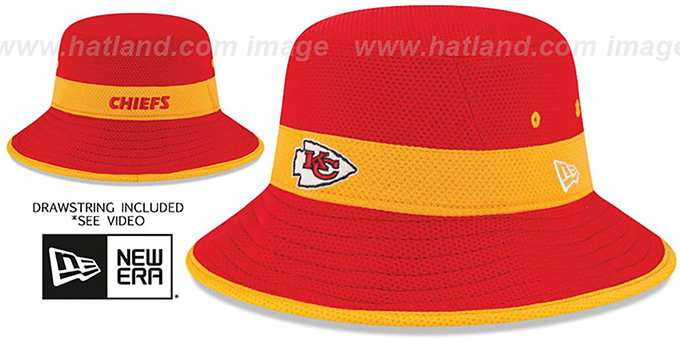 Chiefs '2015 NFL TRAINING BUCKET' Red Hat by New Era : pictured without stickers that these products are shipped with