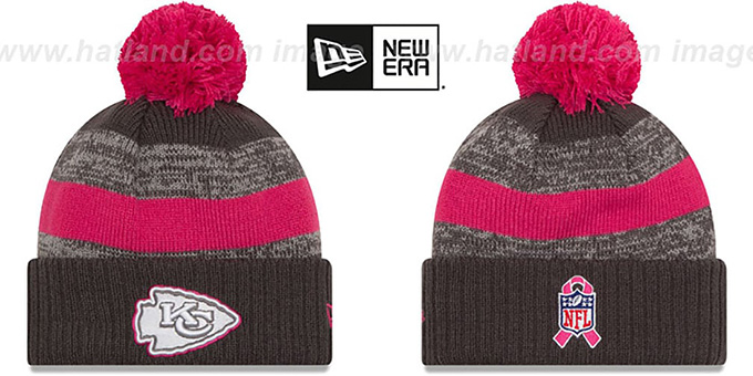 Chiefs '2016 BCA STADIUM' Knit Beanie Hat by New Era : pictured without stickers that these products are shipped with