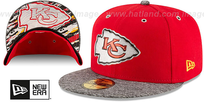 Chiefs '2016 NFL DRAFT' Fitted Hat by New Era : pictured without stickers that these products are shipped with