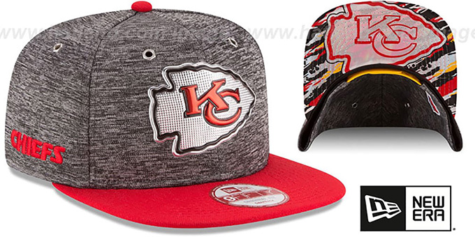 Chiefs '2016 NFL DRAFT SNAPBACK' Hat by New Era : pictured without stickers that these products are shipped with