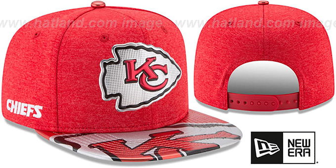 1ad9a1afdf6 Kansas City Chiefs 2017 NFL ONSTAGE SNAPBACK Hat by New Era