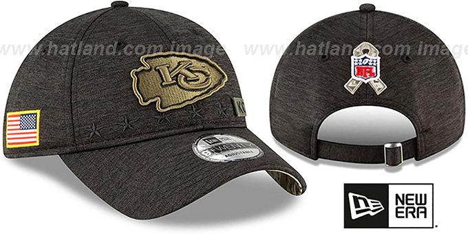 Chiefs '2020 SALUTE-TO-SERVICE STRAPBACK' ST Black Hat by New Era
