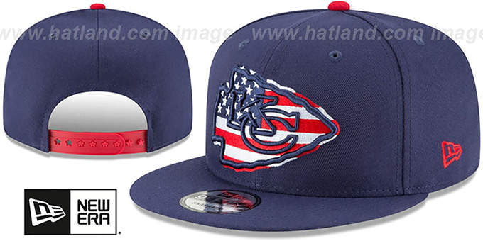 Chiefs 'FLAG FILL INSIDER SNAPBACK' Navy Hat by New Era